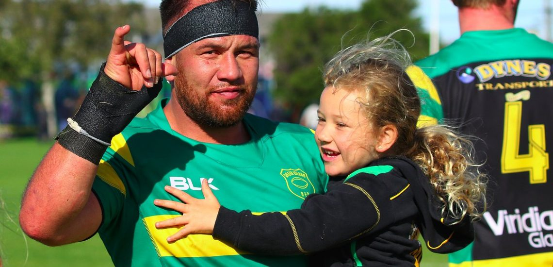 Peter Mirrielees of Green Island after playing his 200th Premier game against Southern at Bathgate Park in Dunedin, on Saturday 24th March, 2018.